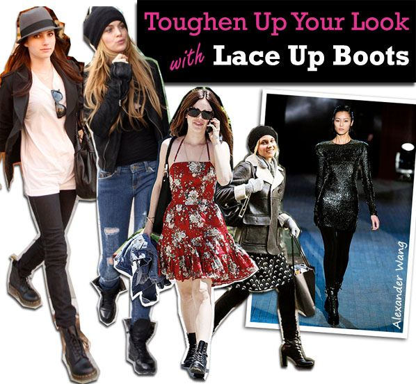 Toughen Up Your Look With Lace Up Boots post image