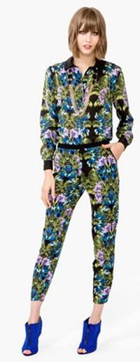 Forever21 tropical top and leggings