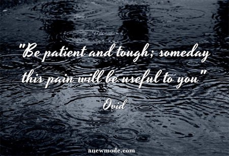be patient and tough ovid quote