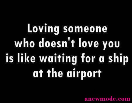 loving someone who doesn't love you